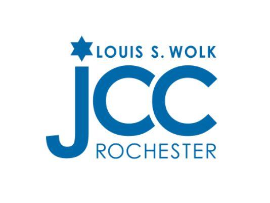 Louis S. Wolk JCC Rochester logo in blue type