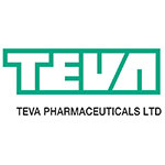 Teva Pharmaceuticals Ltd logo in white type outlined by green.